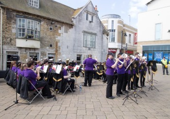 Lions Youth Brass Entertain in Weymouth