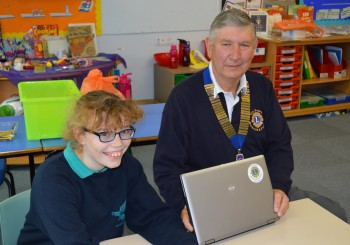 ANOTHER REFURBISHED LAPTOP IS DONATED BY THE LIONS CLUB