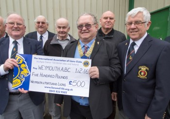 Lions donate £500 to Weymouth Amateur Boxing Club (WABC)
