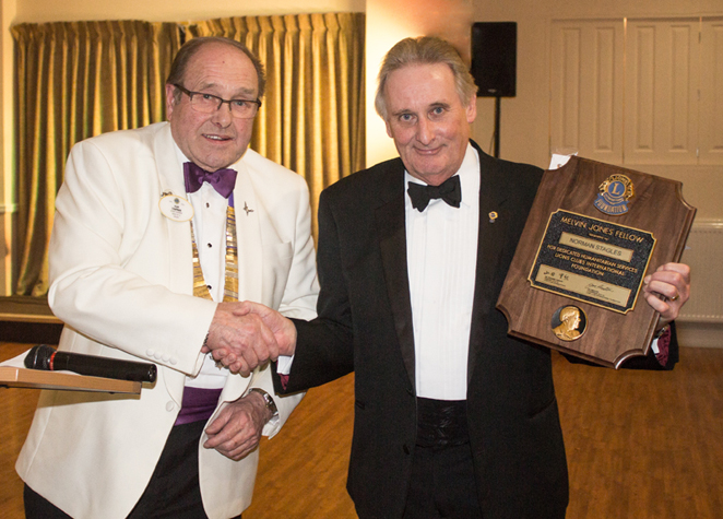LION NORMAN STAGLES RECEIVES HIGHEST AWARD FROM LIONS INTERNATIONAL