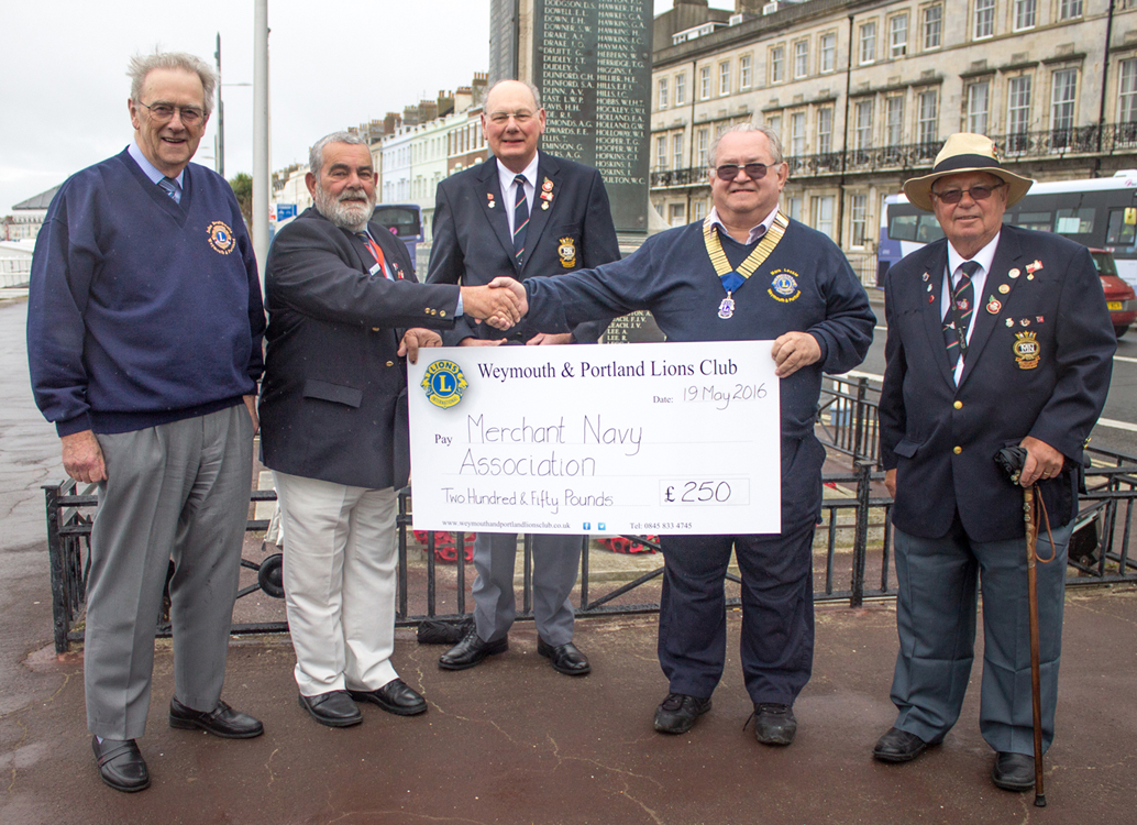 LIONS GIVE BOOST TO MERCHANT NAVY MEMORIAL APPEAL